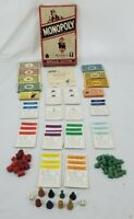VINTAGE Monopoly Game Popular Edition Parker Brothers Wood Pieces NO BOARD 1954