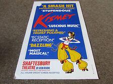 KISMET Smash Hit Musical SHAFTESBURY Theatre Poster