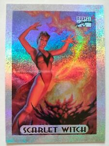Marvel Masterpieces 1994 Holofoil Insert Chase Card #7 Scarlet Witch