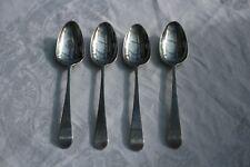 Antique Solid Silver set of 4 teaspoons, London Circa 1800, not scrap, 47gms