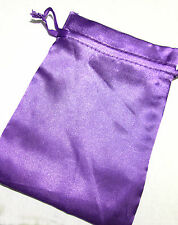 Purple Satin Drawstring Pouch 7x5in QTY1 Gift Jewelry Wedding Crystals Bag B036