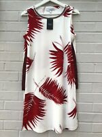 NEW Next Size 8 Dress Tunic White Red Summer Holiday Beach Floral Wedding Specia