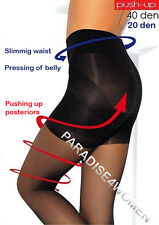 """push-up"" Tights 20 Denier Shape Hips Uplift Bottom Pressing of Belly Italian S Black"
