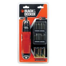 Black & Decker Inalámbrico Batería Aa Powered Destornillador + Ph, Pz, Ranura bits a7073