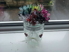 Butterflies wire stem for  floral accessories in displays and garlands x 5