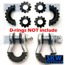 """Black Isolator Washers 1 Pair Kit Set Silencer Clevis for 3/4"""" D-ring Shackles"""
