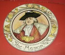 "Vintage Royal Doulton THE MAYOR display 10 1/2"" plate Series Ware"