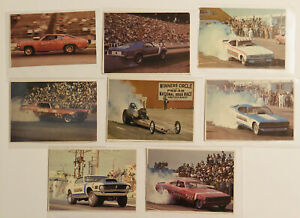 NHRA Drag Racing Trading Cards Lot Of 8 Vintage