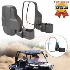 """Rear View Mirror Set Utv Side Mirrors 1.75"""" - 2"""" Clamp Roll Cage For Polaris Rzr"""