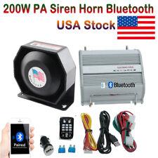 Car PA Siren Horn Bluetooth Speaker System Kit 200W Car Warning Alarm 8 Sounds