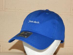 Nike H86 Just Do It Cap / Hat Strapback Blue / White BV3376JDI Heritage 86