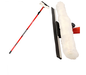 3.5m 10ft Telescopic Window Cleaner Brush Squeegee Extendable Head UK