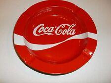 COCA COLA  ASHTRAY LIGHTER CIGARETTE SODA COKE  DRINK ASHTRAYS RED METAL NICE