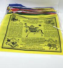 Hands Of Tibet large Tibetan Handmade Prayer flags Wind horse in English