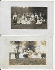 LOT OF 2 GENUINE VINTAGE POSTCARD,SCHOOL CHILDREN,SHEFFIELD,YORKSHIRE,RP,1913