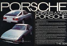 1977 Porsche 924 Original 2-page Advertisement Print Art Car Ad J828