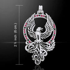 Phoenix .925 Sterling Silver Pendant by Peter Stone