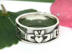Claddagh Ring 925 Sterling Silberring irischer Hochzeitsring Kelten