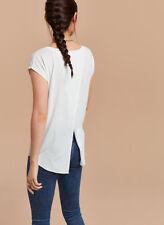 Aritzia Wilfred XXS T Shirt Asymmetrical Overlap Open Back Anvers Blue