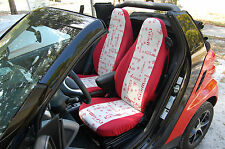 "smart fortwo (451) custom made seat cover ""MERRY CHRISTMAS"" - German fabrics"