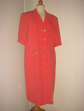 ANTONETTE (pas Antonelle) ROBE CORAIL ELEGANTE MADE IN GERMANY 44/46 GRANDE TAIL