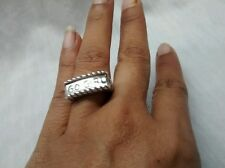 Pretty DLM Diane Malouf  sterling silver 925 go girl ring size 8