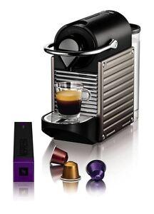 Nespresso Pixie Coffee Machine by Krups – Titanium