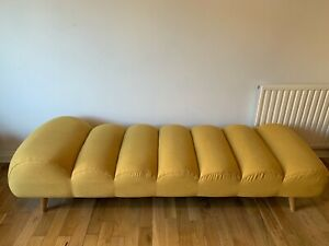 Made.com Yellow Caterpillar Day Bed / Chaise Longue
