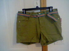 BRAND NEW JUNIORS SIZE 11 BONGO BELTED CASUAL SHORTS