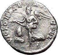 SEPTIMIUS SEVERUS Rare Silver Ancient Roman Coin Victory over Parthians i50031