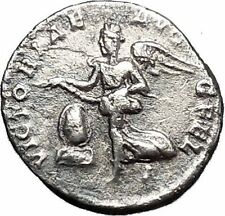 SEPTIMIUS SEVERUS Rare Silver Ancient Roman Coin Victory over Parthians i50031