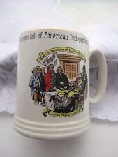 bicentennial of american independence 1776-1976 vintage antique mug lord nelson