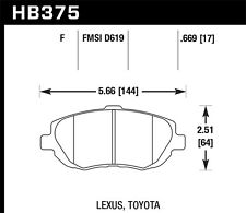 Hawk HPS Front Brake Pads For 93-10 Toyota / Lexus #HB375F.669