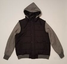 Zoo York Puffer Jacket Hooded Hoodie Black Men's Size Medium NWT New $100.00