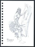 Mike Hoffman Tarzan Original Pencil Art comic artist Personal Notebook 2013
