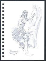 Mike Hoffman Tarzan Original Pencil Art comic artist Personal Notebook 2013