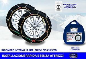 Catene da neve Fiat Ducato 185/75-16 R16 per ruote auto grip mm 12 kit ruota set
