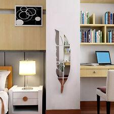 3D Spiegel Feder Wandaufkleber Wandtattoo Wandsticker Zimmer Deko Abnehmbare