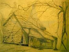 Crumbling and Exhausted, dilapidated old southern barn