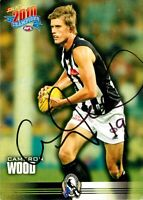 ✺Signed✺ 2010 COLLINGWOOD MAGPIES AFL Premiers Card CAMERON WOOD