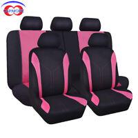 11 PCS Universal Seat Covers Pink fit Car Truck Van SUV - Polyester Sponge Mesh