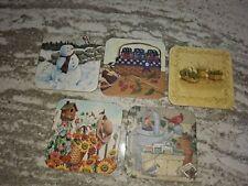 Longaberger Rare Lot of Five Miscellaneous Basket Coasters Mint Free Shipping!