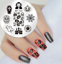Nail Art Stamping Template Halloween Pumpkin Style Image Plate Bp122 Born Pretty