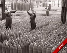 BRITISH WOMEN IN WWII MUNITIONS FACTORY SHELLS PHOTO REAL CANVAS ART PRINT