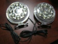 2pcs White 9 LED 12v Round Car DRL Driving Daytime Running Fog Light Lamp Bulbs