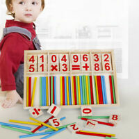 AU_ BU_ Kids Montessori Wooden Math Number Game Sticks Puzzle Early Educational