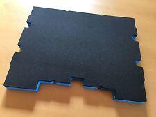 Koffereinlage Hart-Schaumstoff f. TSTAK Stanley, DeWalt, gr-blau, 20mm