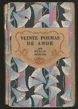 Pablo Neruda Book Veinte Poemas De Amor 1940 TOR