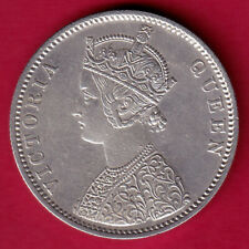 BRITISH INDIA 1876 (0/1 DOT) VICTORIA QUEEN ONE RUPEE RARE SILVER COIN #L24