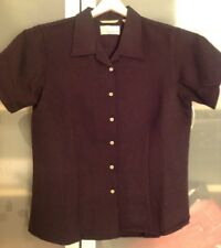 Women's Med Black Cubavera Shirt
